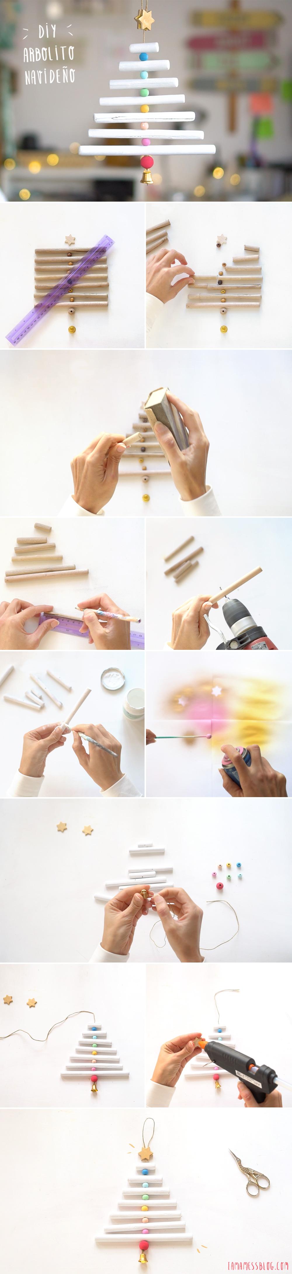 Decora tu navidad con este mini Arbol de navidad DIY, visto en
