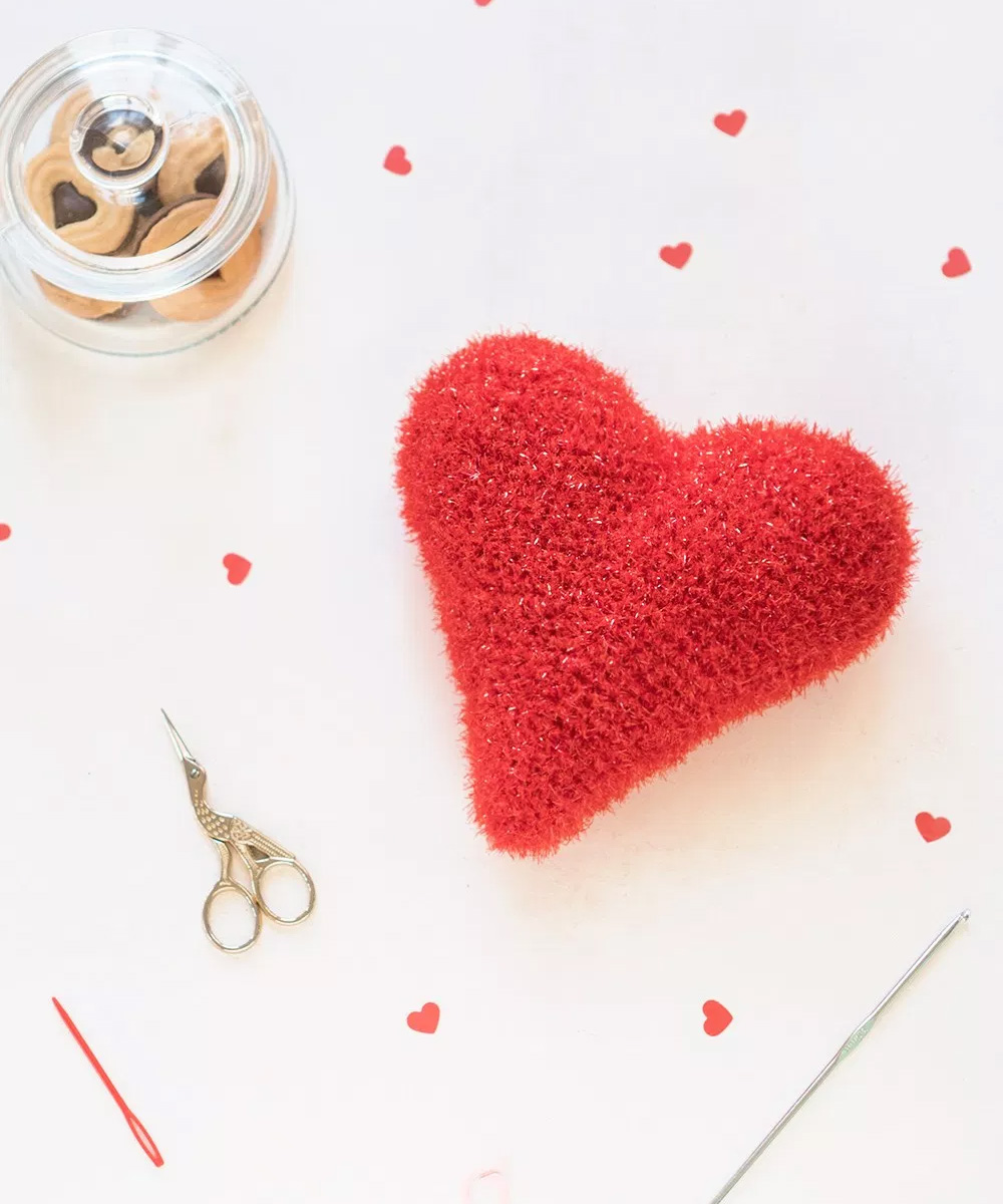 Como tejer un corazón de ganchillo