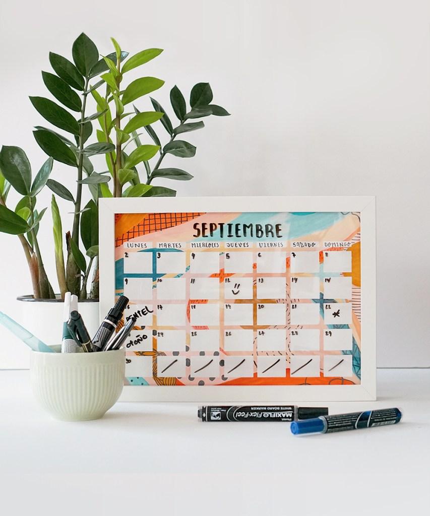 DIY: calendario pizarra paso a paso crea tu calendario ¡y mantente organizada todo el año!