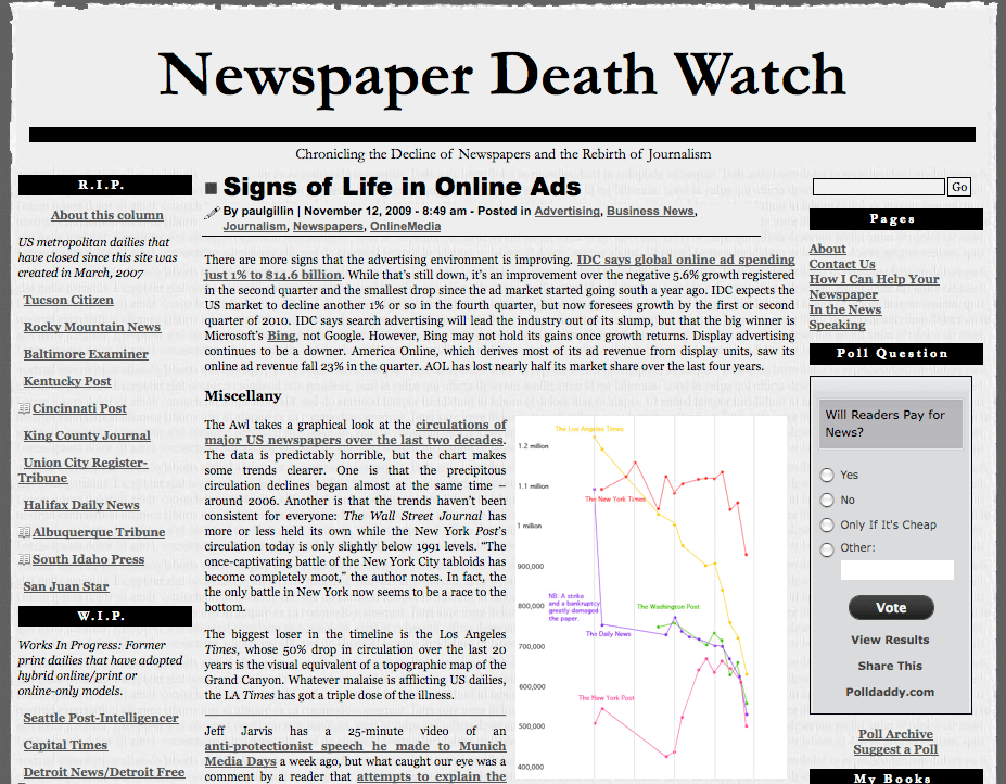 newsp dead watch