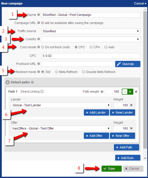 , How to setup campaigns on Voluum working with hasOffers back end Part 4
