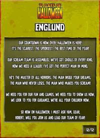 twelve days of halloween poem