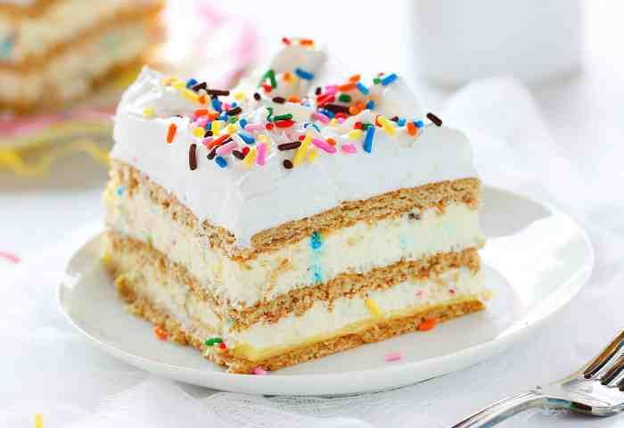 Birthday Cake Lasagna I Am Baker