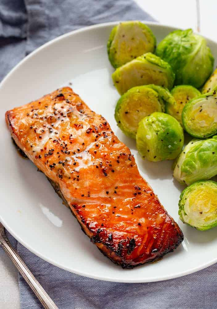 Charred Honey Garlic Salmon