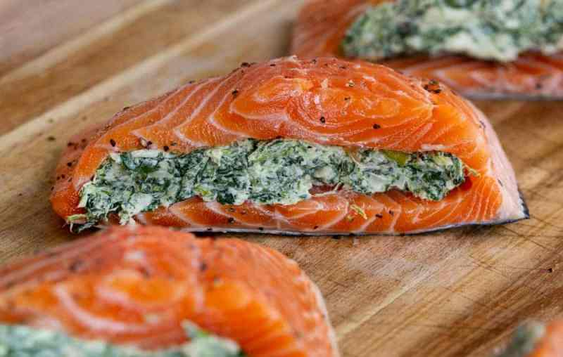 How to Make Spinach Stuffed Salmon