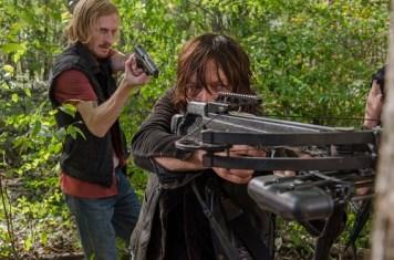 Austin Amelio as Dwight; Norman Reedus as Daryl Dixon - The Walking Dead _ Season 6, Episode 15 - Photo Credit: Gene Page/AMC