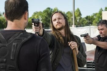 Joshua Mikel as Jared, Karl Makinen as Richard- The Walking Dead _ Season 7, Episode 14 - Photo Credit: Gene Page/AMC