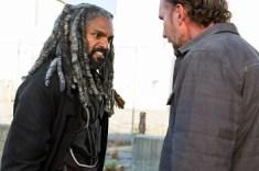 Khary Payton as Ezekiel, Jayson Warner Smith as Gavin- The Walking Dead _ Season 7, Episode 13 - Photo Credit: Gene Page/AMC