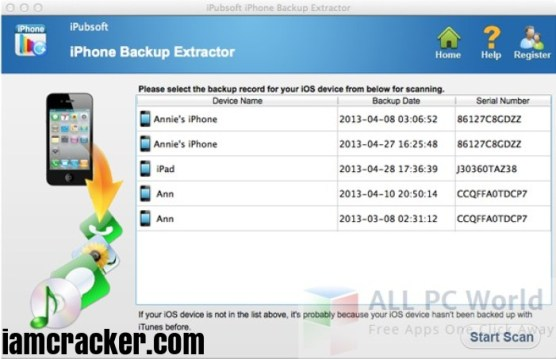 iPhone Backup Extractor 7.6.2 Crack With Activation Serial Keygen