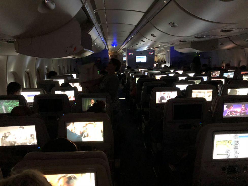 Im Flugzeug nach Brisbane, Australien
