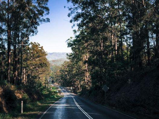 Straße im Hinterland der Sunshine Coast