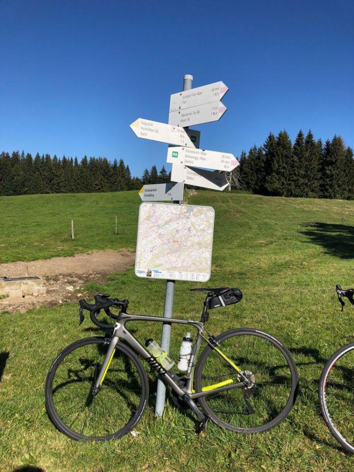 Rennrad Saisonfinale Bodensee: Am Dreiländerblick