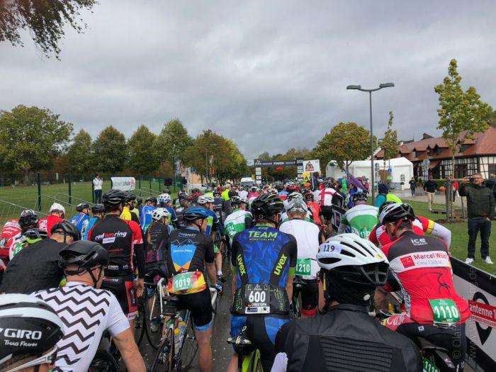 RiderMan in Bad Dürrheim: Startblock vor dem Start der 3. Etappe