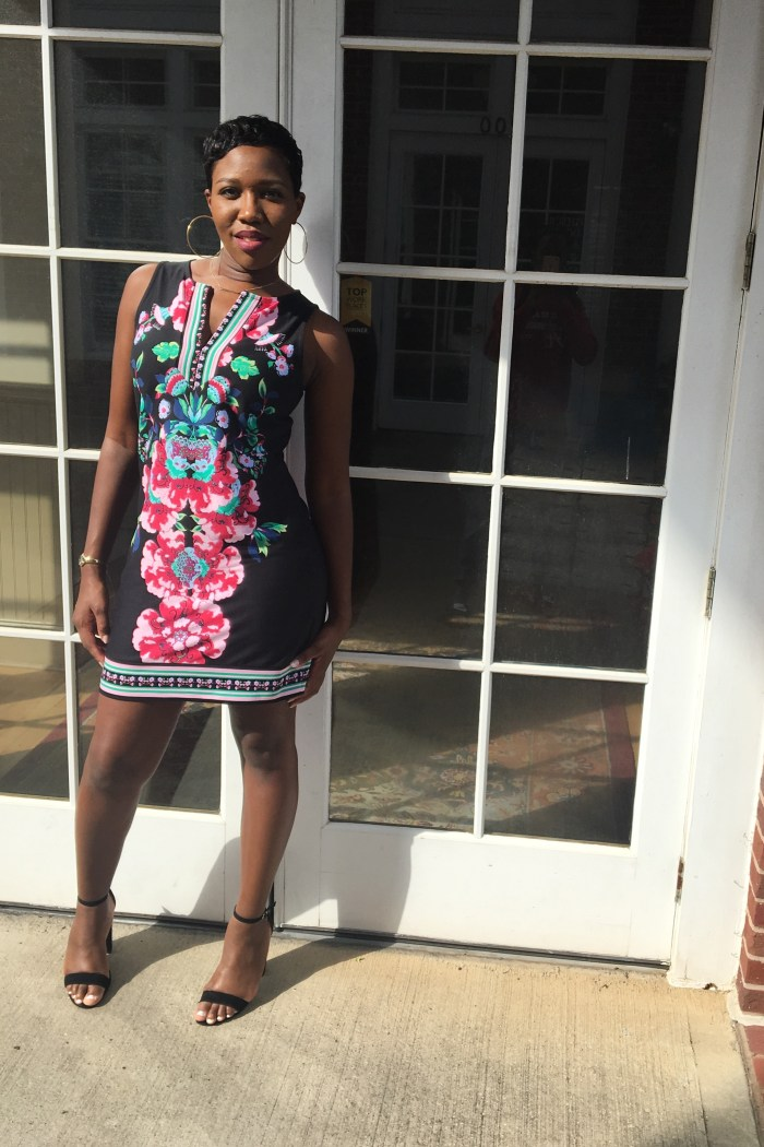 Make a Statement in a Floral Shift Dress
