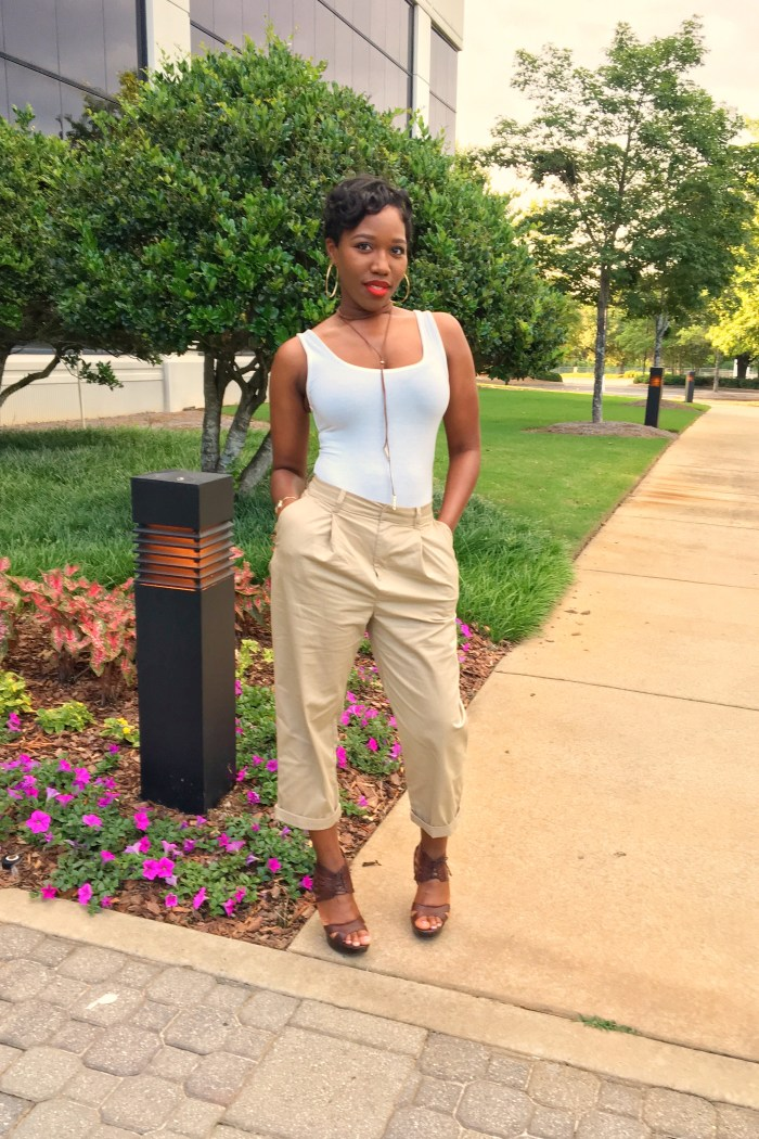 Casual Friday: Khaki Pants + Bodysuit