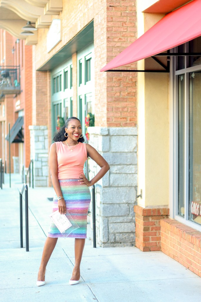 Sequin Pencil Skirt