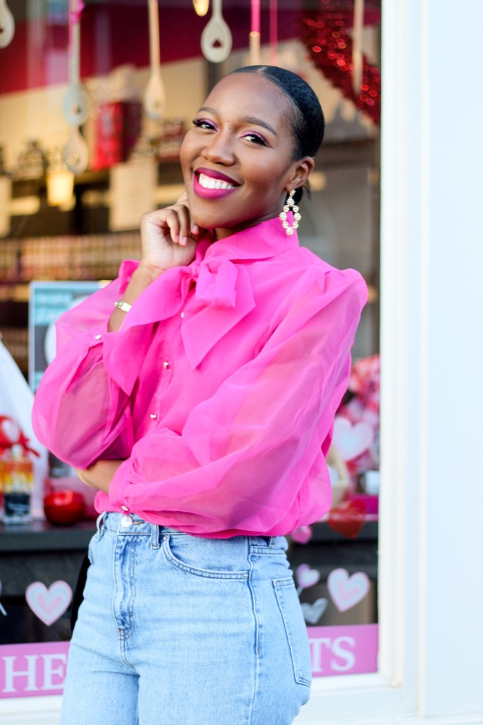The Perfect Pink Top for Valentine's Day