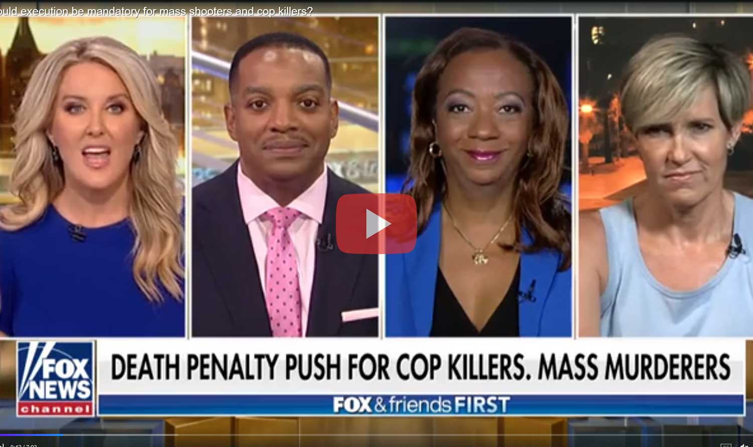 Fox and Friends First – Debbie Hines on the Death Penalty and A.G. Wm. Barr