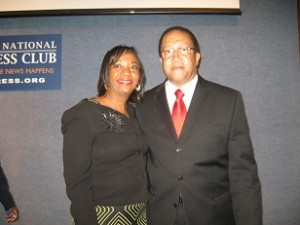 Ben Chavis and author at National Press club