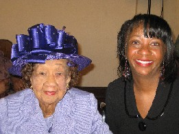 Dr. Dorothy I. Height and Debbie Hines