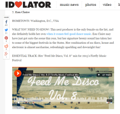 """""""Her combination of nu-disco, house and electronic is almost saccharine, refreshingly sparkling and downright fun!"""" - Idolator"""