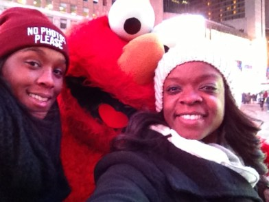 We met Elmo in Time square our second night in.