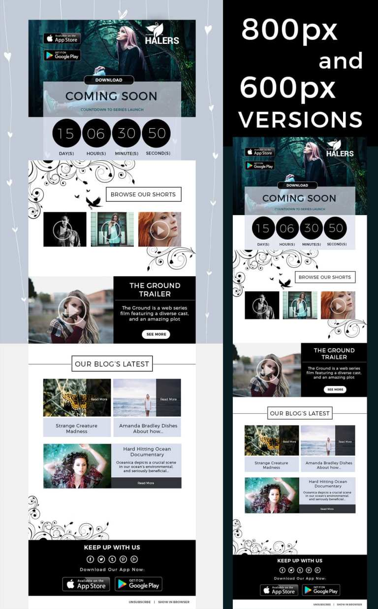 Film Photography Creative Photoshop Email Template IamGoneGirl Designs Photography | Creative Photoshop Email Newsletter Template Mailchimp Campaign Monitor Responsive Dark Best selling