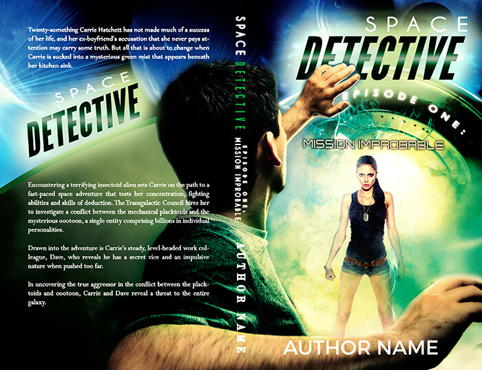 IamGoneGirl Designs Space Adventure Themed Professional Scifi Premade Book Cover Design