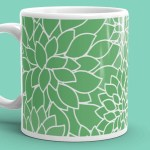 Abstract Leafy Green Mug
