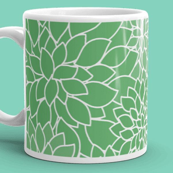 Abstract Leafy Green Mug