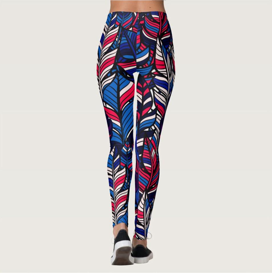 Beasts of Hidden Wild Multi-color Womens Yoga Pants/Leggings