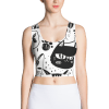 Black and White Cats Multi Pattern Crop Top