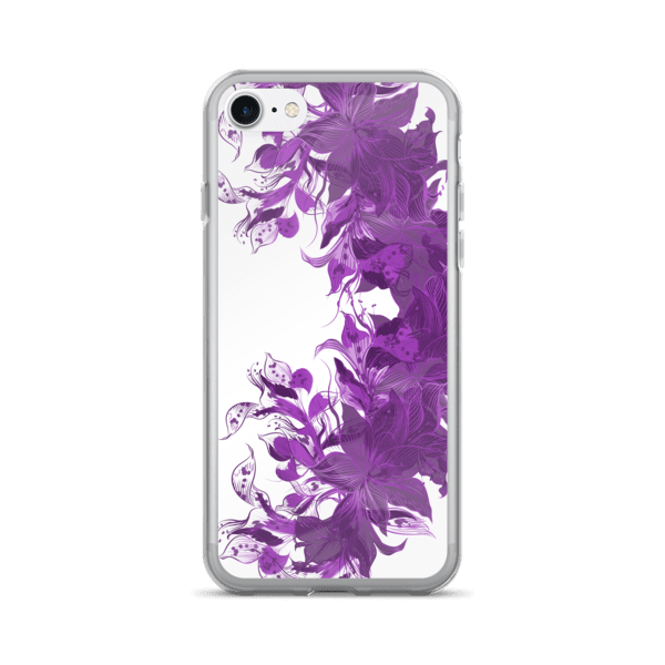 Purple Floral iPhone 7 Plus Case