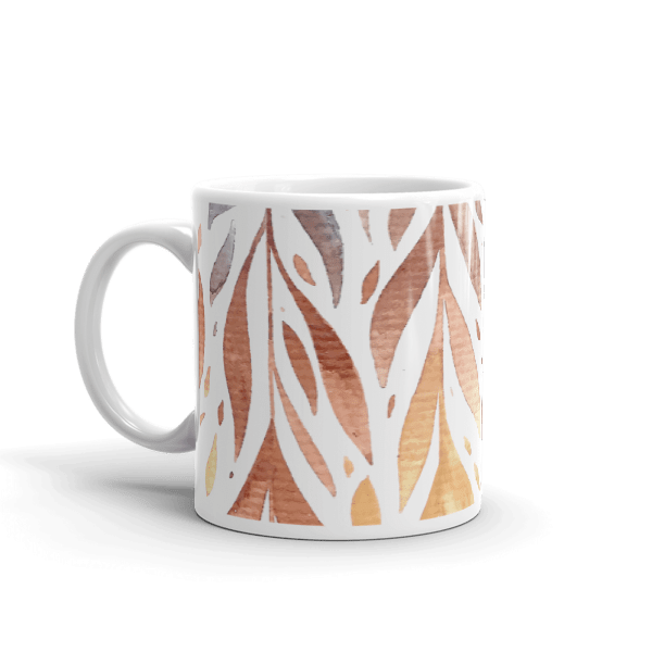 Glossy Rainbow Splash Feathery Mug