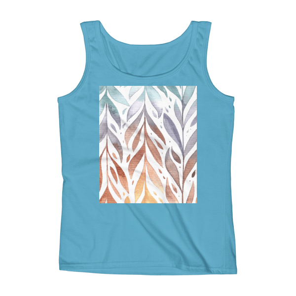 WaterColor Feathers Ladies' Tank