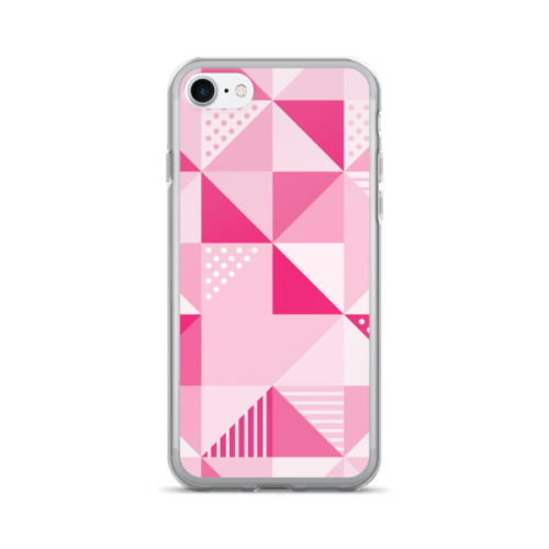 Pink Geometric iPhone 7 Plus Case