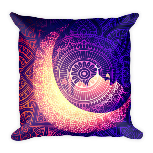 Midnight Blue Moonlit Dreams 18 by 18 Pillow