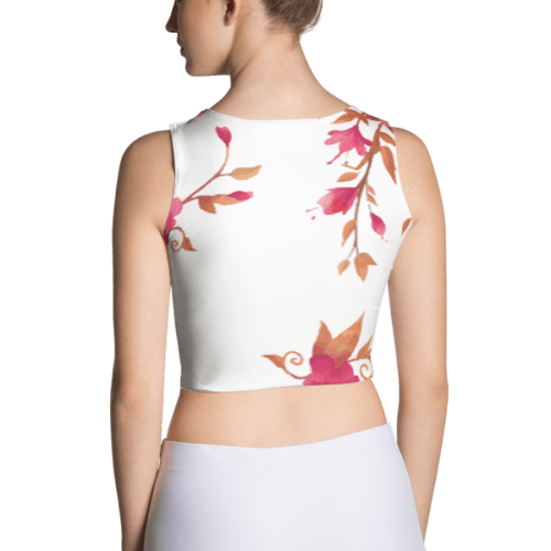 Floral Nature Leaves Crop Top