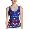 Beast Wolf tank top blue white red and purple
