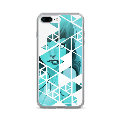 Geometric Blue Rebel Mermaid iPhone 7 Case