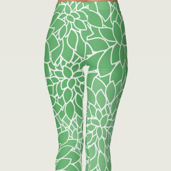 Abstract Leafy Green Leggings