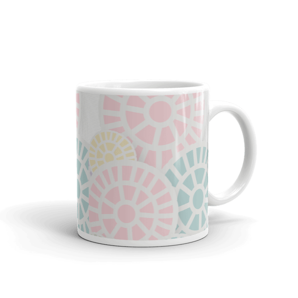 Multi-Colored Floral Lollipops Mug