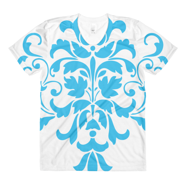 Blue Ornamental women's crew neck t-shirt