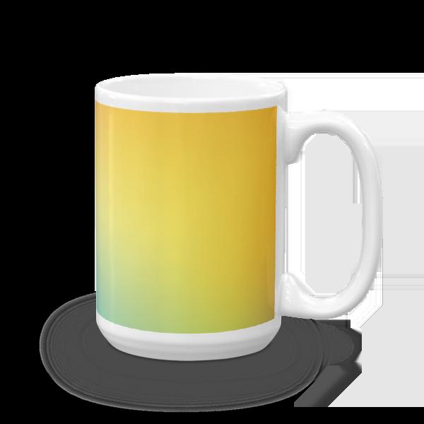 Gradient Yellow, and Blue Mug