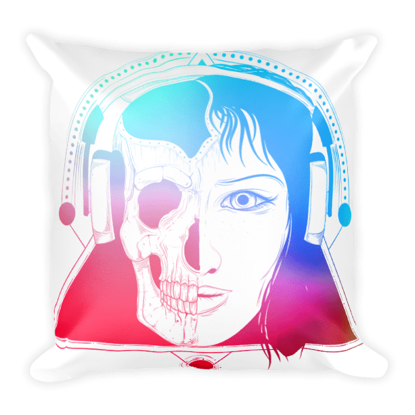 Death Face Rebel Square Pillow