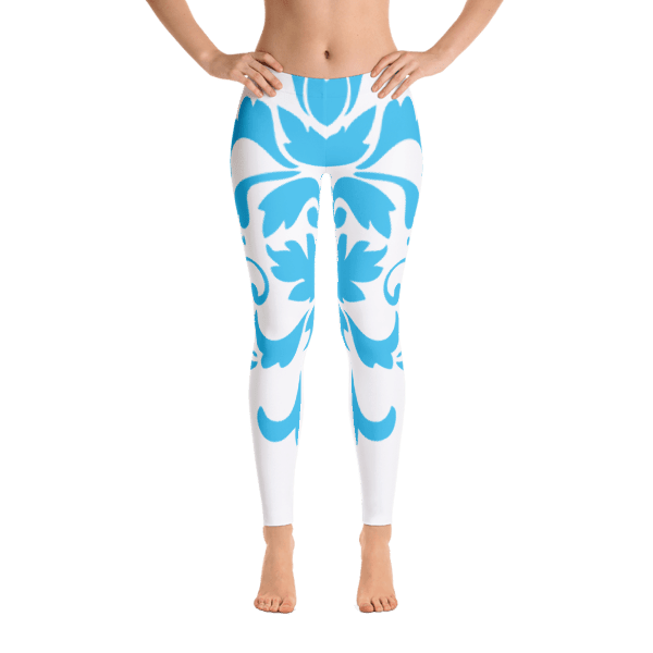 Blue Ornamental Leggings
