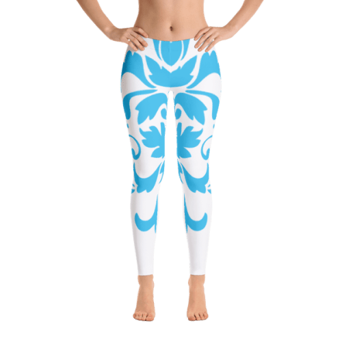 Blue Ornamental Leggings