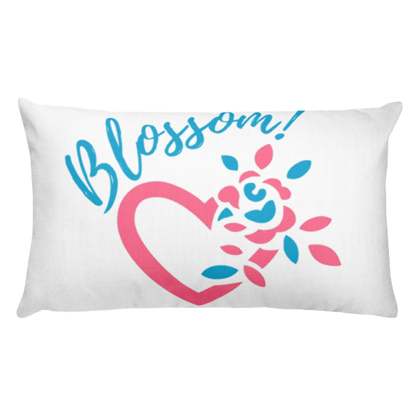 Blossom My Heart Rectangular Pillow