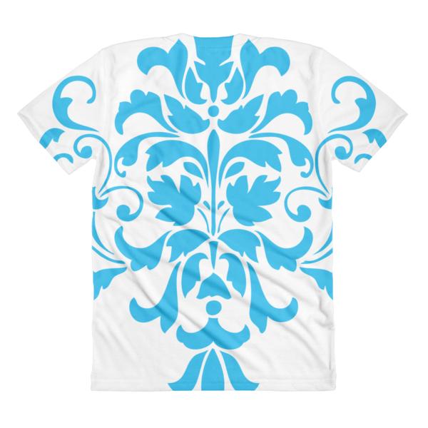 Blue Ornamental women's crew neck t-shirt