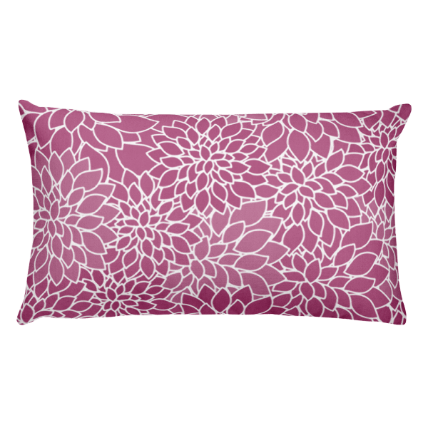 Abstract Leafy Purple Rectangular Pillow